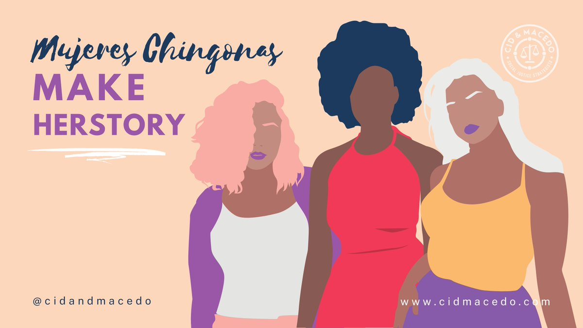Happy Women's History Month! Celebrate all the #MujeresChingonas past and present. Who are the chingonas by your side? Show them some love and tag them below. #Sisterhood #Herstory #WomensHistoryMonth
