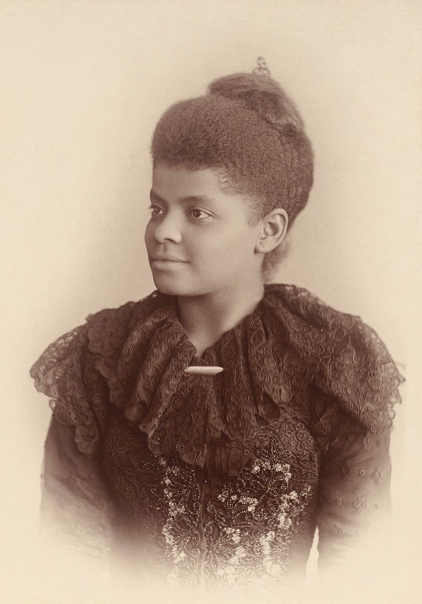 Ida Bell Wells-Barnett (July 16, 1862 – March 25, 1931) was an American investigative journalist, educator, and early leader in the civil rights movement. She was one of the founders of the National Association for the Advancement of Colored People (NAACP).    #WomensHistoryMonth