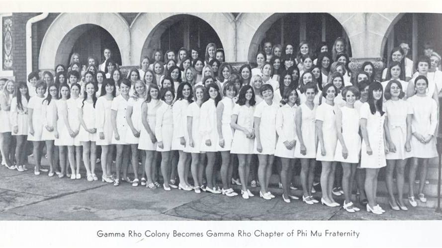 Last Saturday marked 50 years since the Gamma Rho Chapter of the @PhiMuFraternity was installed at then West Georgia College, making Phi Mu the first national fraternity on campus.   #WomensHistoryMonth