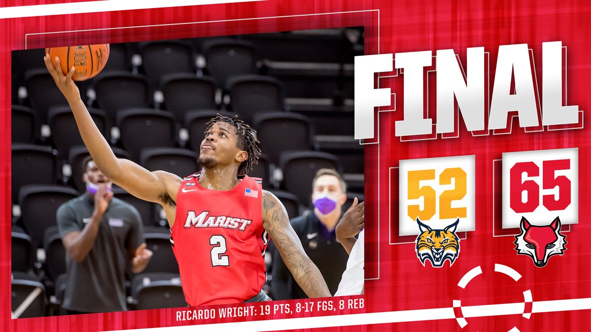 RED FOXES WIN!!! #Marist sweeps Quinnipiac to close the regular season with a 12-8 record and 10-8 mark in @MAACHoops play! Onto Atlantic City!!! #GoRedFoxes