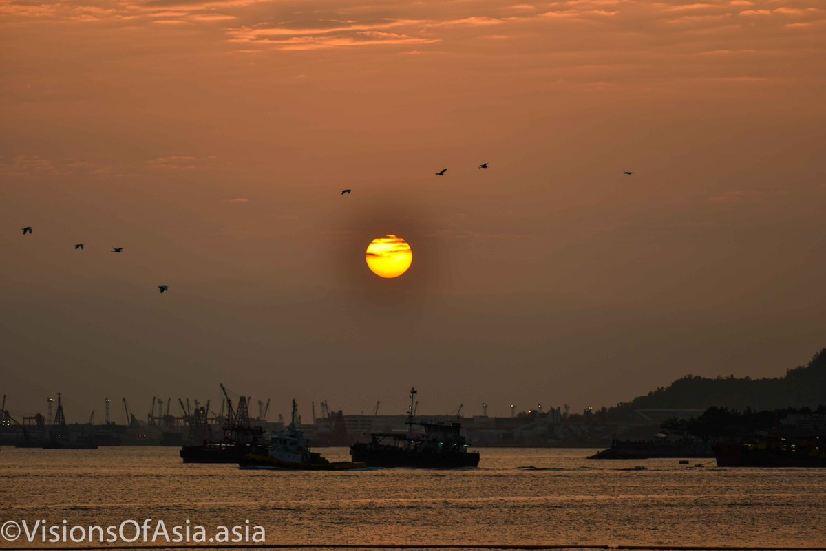 #HongKong #Sunset on Golden Beach last Sunday.