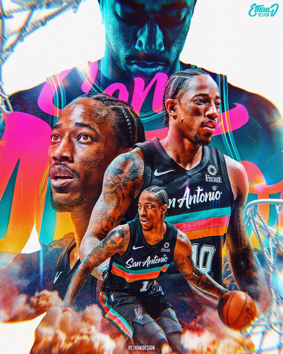 In the middle of a hectic #NBAAllStar build up, but got some time for a personal project today.  He didn't get the votes this year, but #DemarDerozan has been getting the job done with the @spurs! 🏀🌵