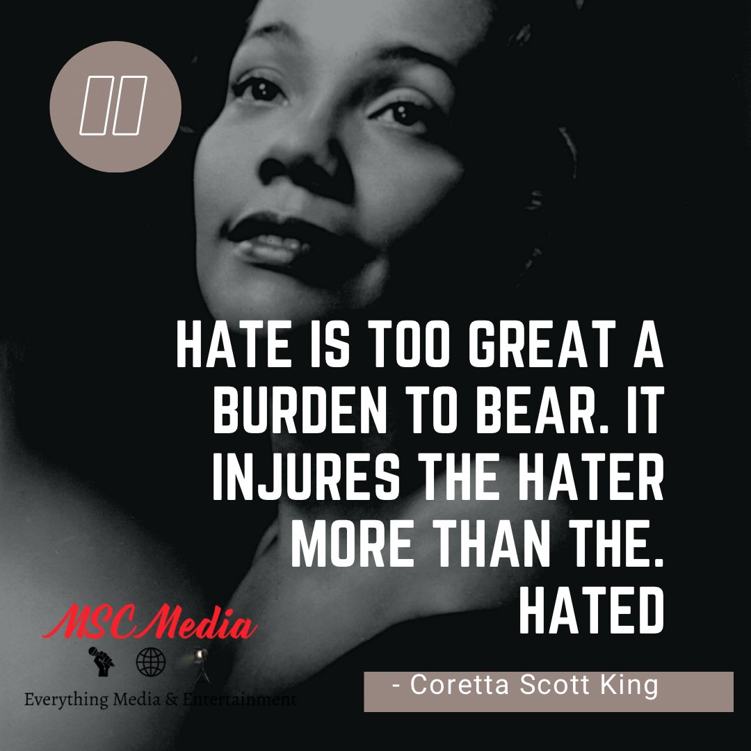 March is National Women's History Month and today MSC Media is honoring #CorettaScottKing   Coretta Scott King was an American author, activist, civil rights leader, & the wife of Martin Luther King Jr. An advocate for African-American equality.  #WomensHistoryMonth #MSCMediaLLC