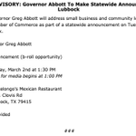 "Image for the Tweet beginning: .@GovAbbott will make ""a statewide"