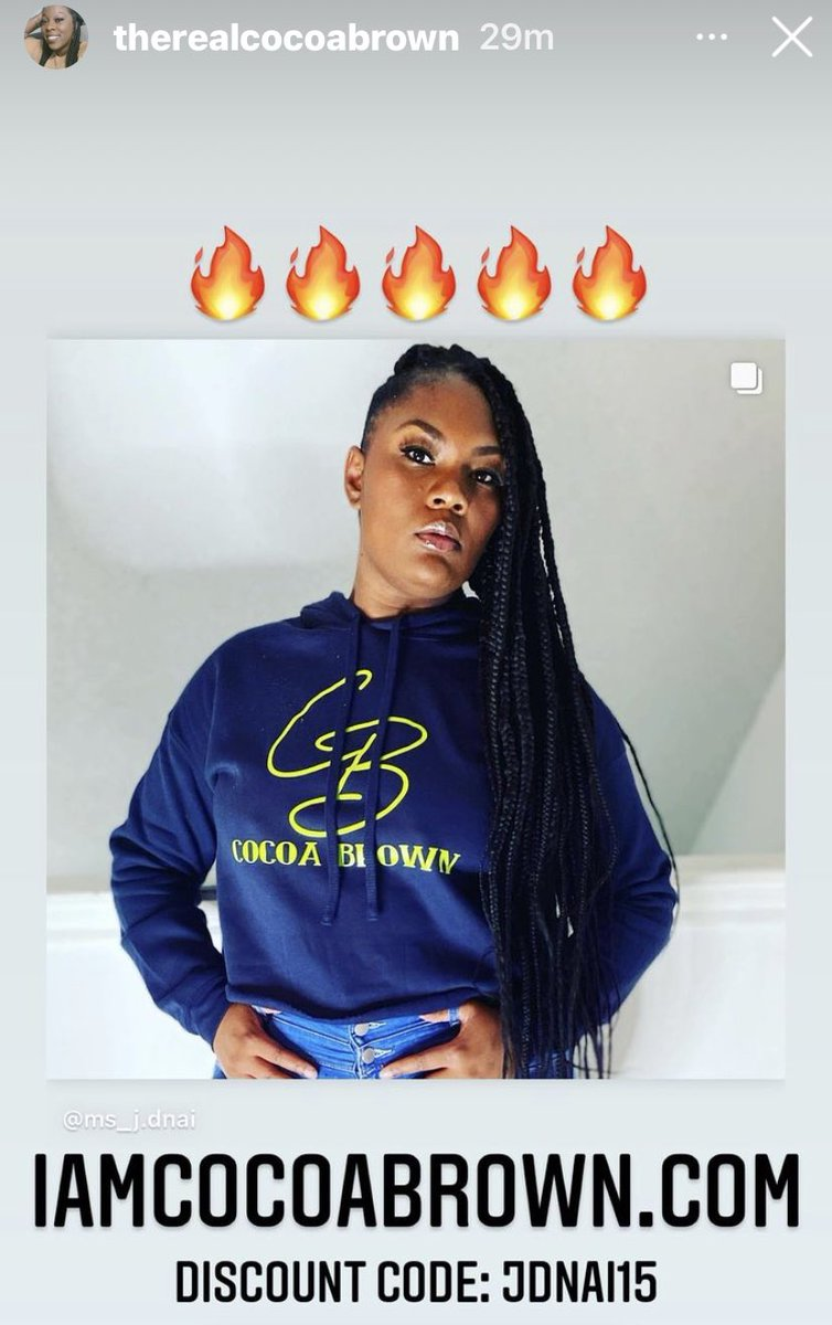 #iamcocoabrown #remixxxgodsuede. Ladies, cop this crop top hoodie online at  👉🏾👈🏾  And use my code JDNAI15 at checkout for the discount! #blackmajik #blackculture #createBLACKhistory #blackownedbusiness #buyblack #supportblackbusiness