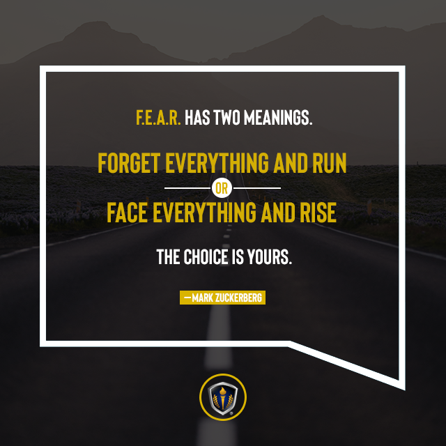 F.E.A.R. has two meanings. The choice is yours.  #perspective #thepowerofthoughts #mindset