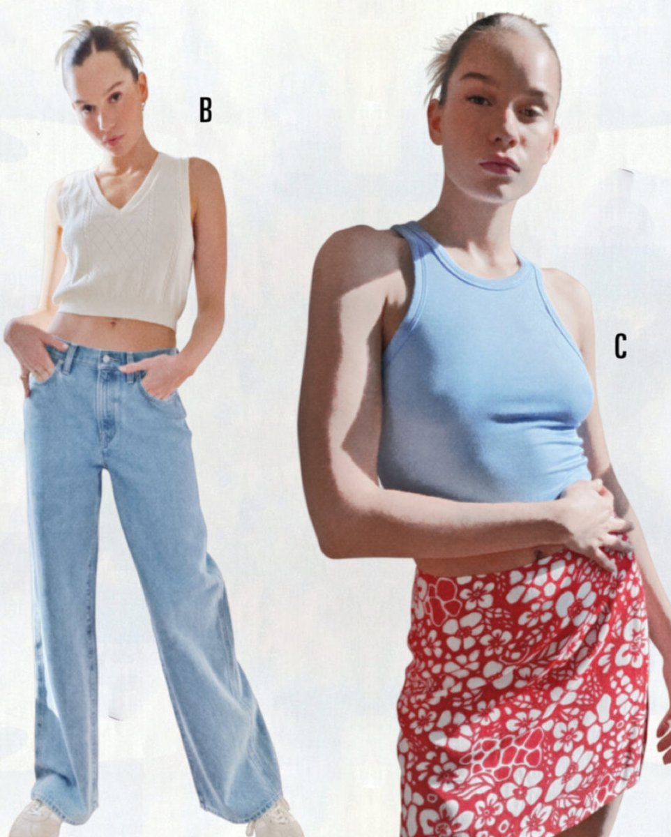 Skirt, tank, jeans, sweater vest. In no particular order. https://t.co/Li8hIpdEdC https://t.co/sOm2X8UQ8x