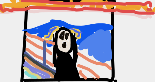 But that wasn't the only popular one! Check out these renditions of The Scream: