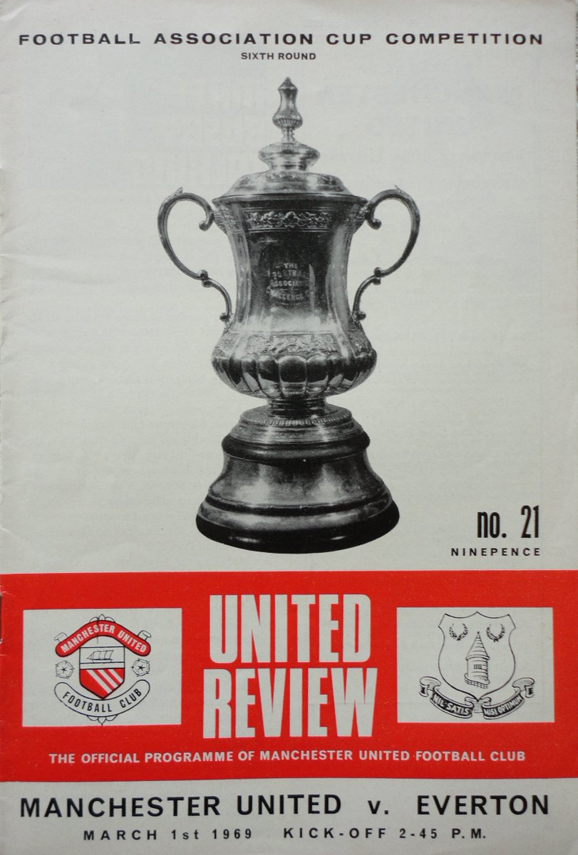 Clearly the #football calendar has changed since 1969 #OnThisDay and a #FACup tie between @ManUtd and @Everton #footballprogrammes #oldtrafford @MUFCMemorabilia @EvertonNewsFeed #united
