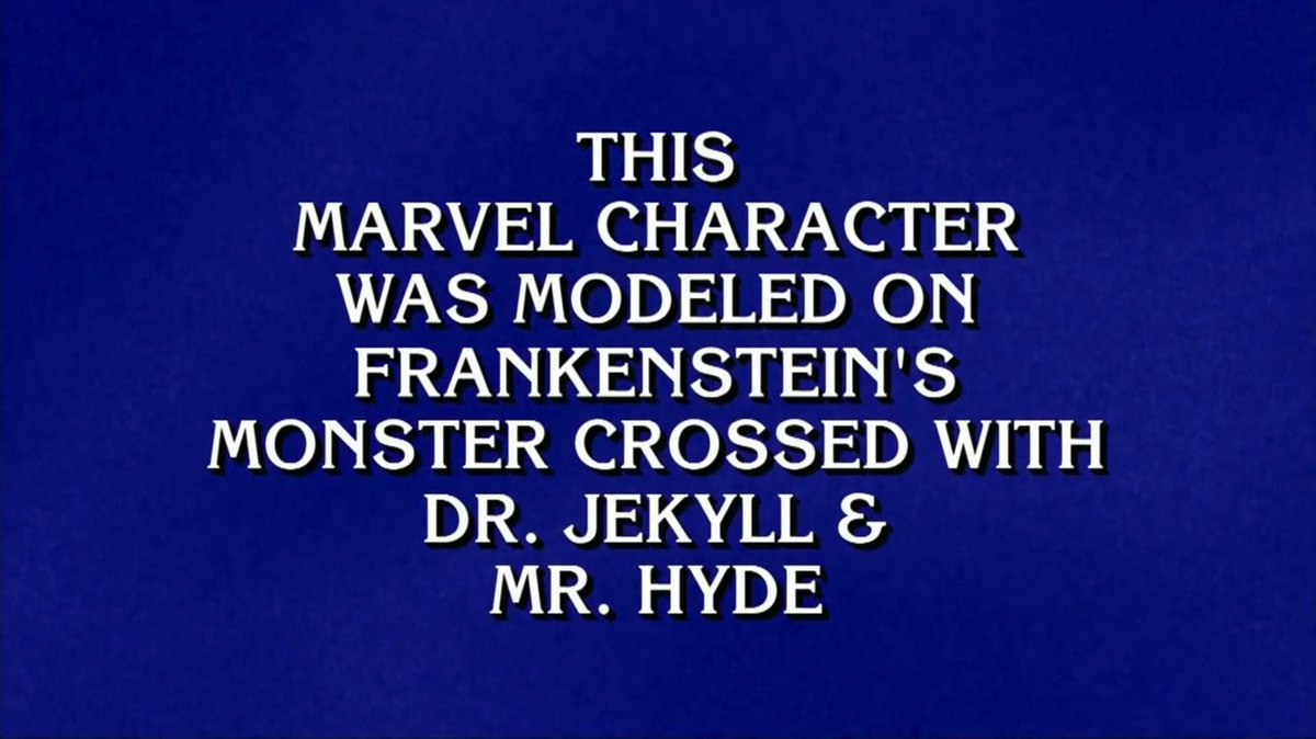 Did you catch Marvel on @Jeopardy? Buzz in if you know the answer, true believers!  ❓: