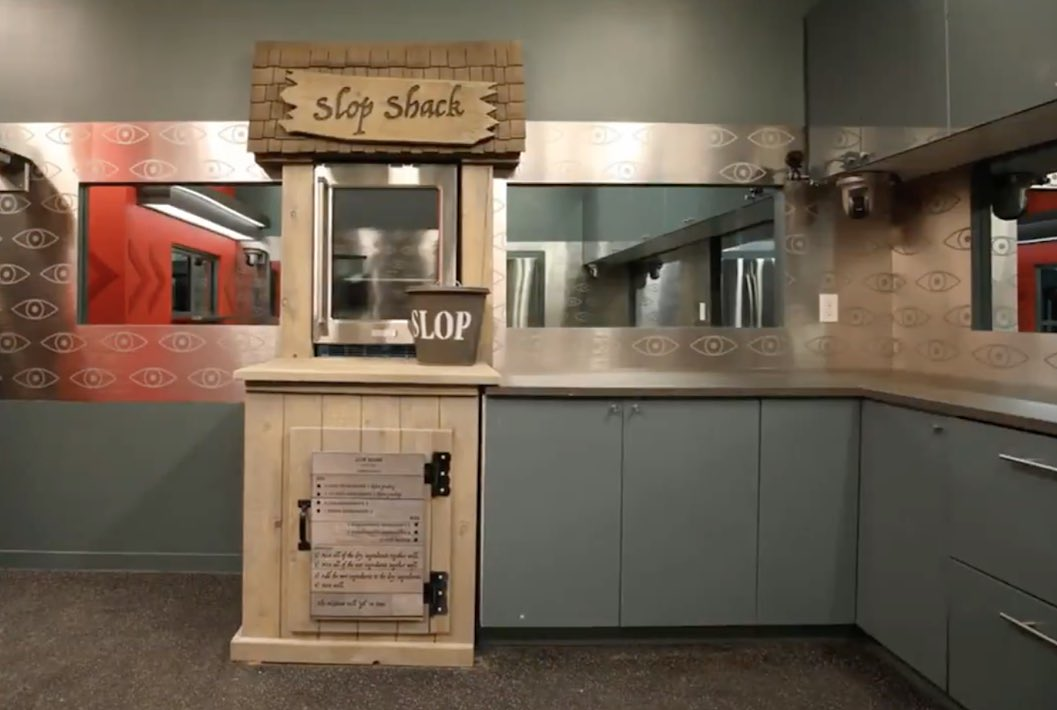 """Replying to @TVtater: What's this then?? A dedicated """"Slop Shack"""" in the pantry? #BBCAN9"""