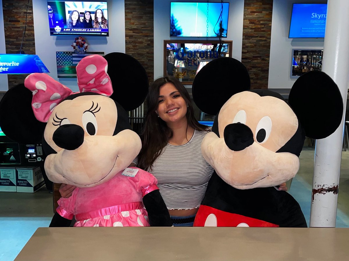 When Mikey & mini are taller then you. They are sitting down on chairs lol. 🎀   #disney #plush💕
