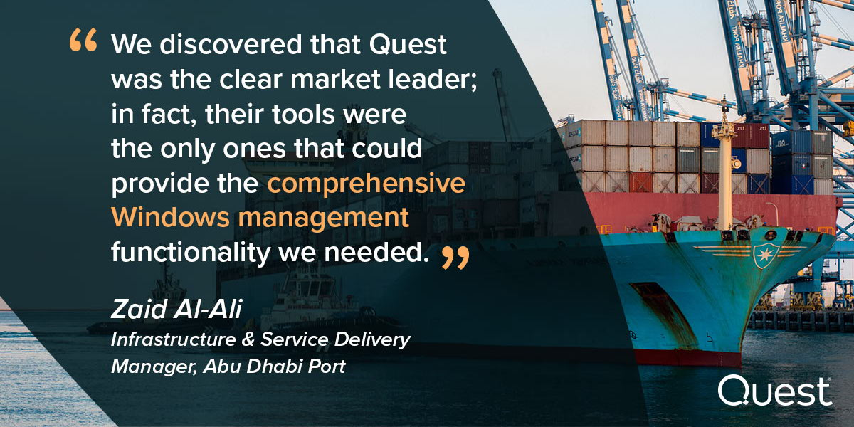 Abu Dhabi Ports needed comprehensive auditing, proactive alerting, automated provisioning and self-service password resets. Read their story https://t.co/gANYB1ZRP6 https://t.co/J7I9EhqRzQ
