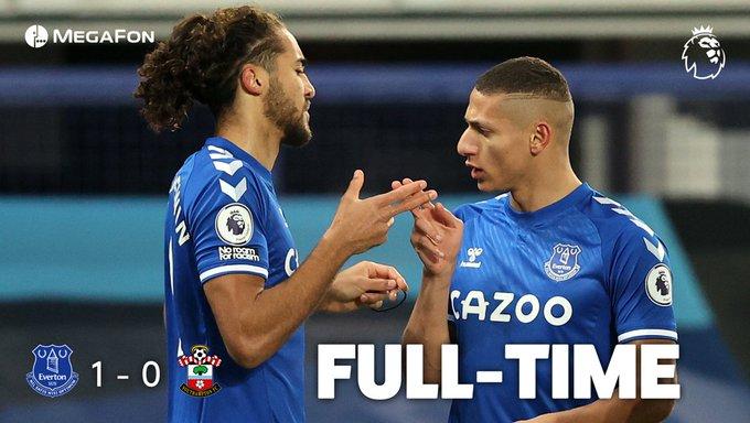 Hasil akhir Everton vs Southampton