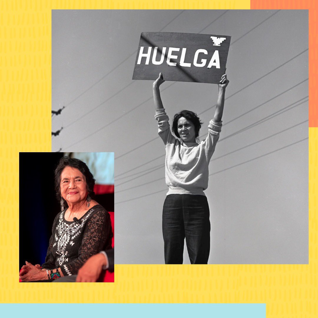 "@DoloresHuerta created the @UFWupdates, improving the working conditions for farm workers. She also helped fight for unemployment & healthcare benefits. ""Sí, se puede.""  #mesdelahistoriadelamujer #mujereslatinas #womenshistorymonth  #mujereshispanas #latinwomen #hispanicwomen"