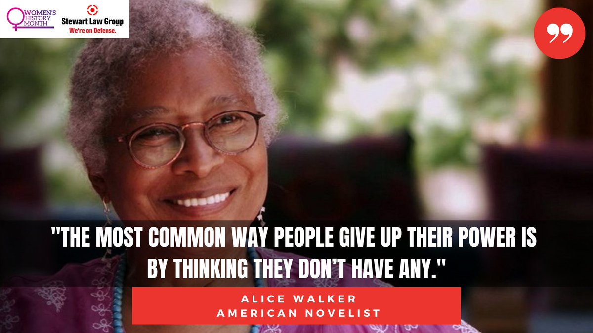 #WomensHistoryMonth Quotes  Stewart Law Group PLLC. We can because she did.
