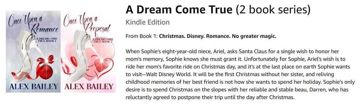 "By Alex Bailey ""@AuthorAlexBaile A DREAM COME TRUE Women's Fantasy Fiction #Disney #Romance"
