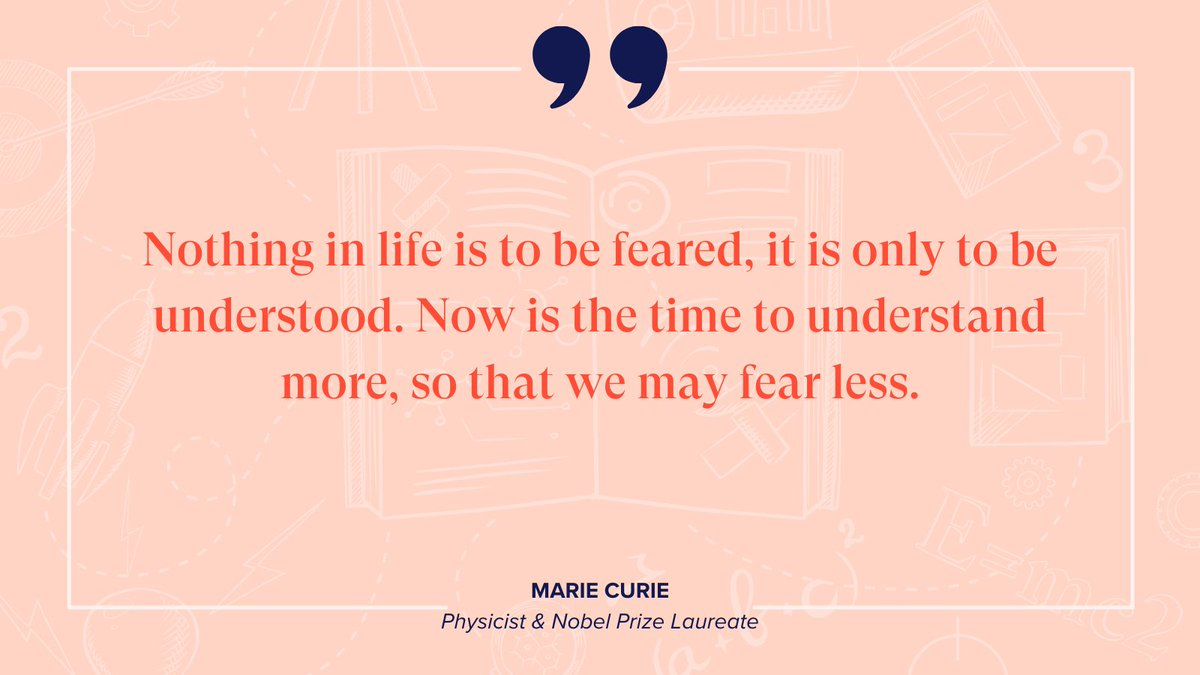 """Nothing in life is to be feared, it is only to be understood. Now is the time to understand more, so that we may fear less."" - Marie Curie What are you creating in your life today? Happy Women's History Month! #mondaymotivation #girlsintechny #womenshistorymonth #womeninstem"