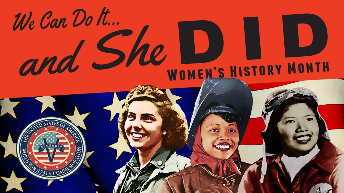 Happy #WomensHistoryMonth! During World War II, women in the workforce increased from 27 percent to nearly 37 percent between 1940 and 1945 as roles that were traditionally reserved for men opened up. We look forward to highlighting women's contributions this month!