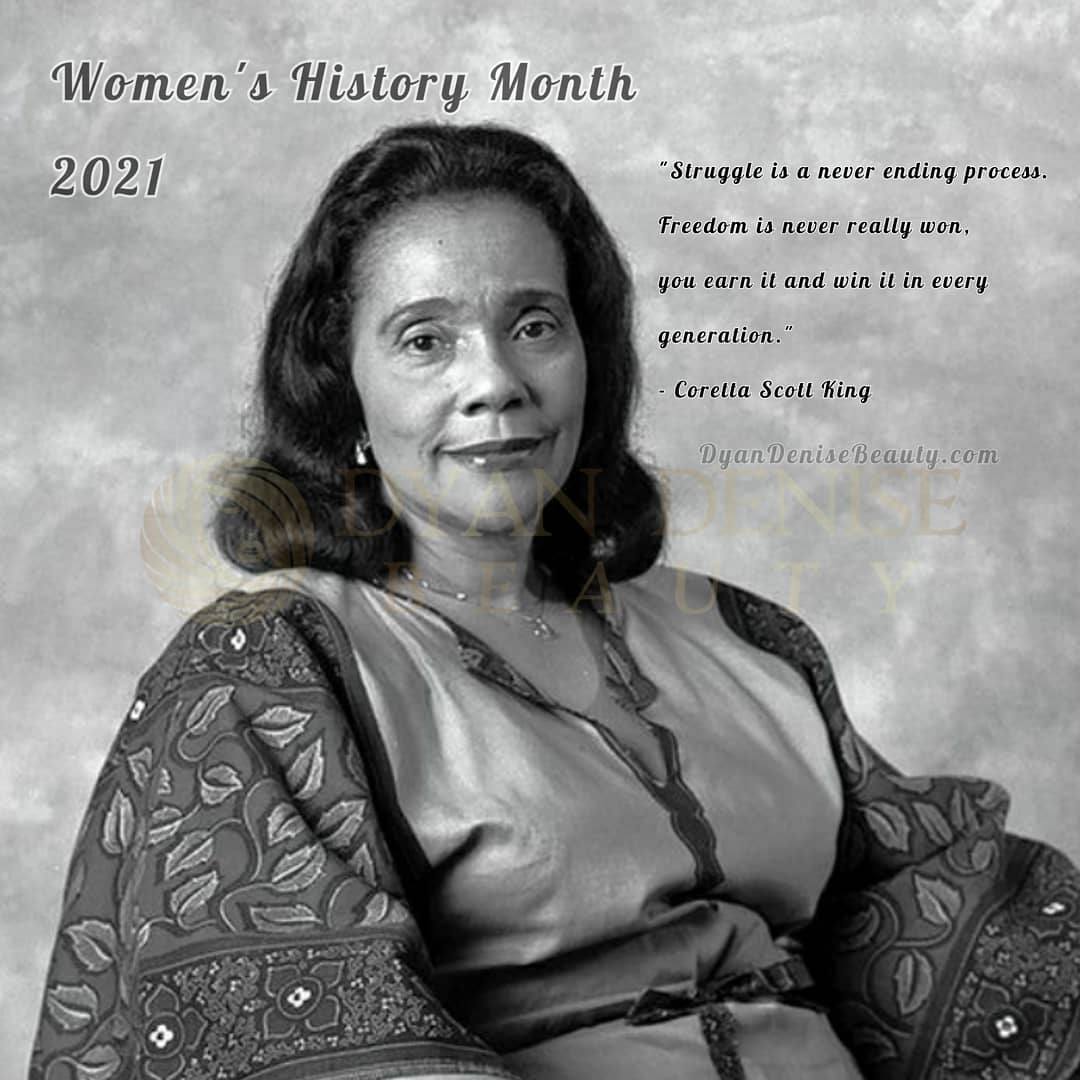 WOMEN'S HOSTORY MONTH was designated to recognize the specific achievements women have made over the course of American history in a variety of fields. Follow Dyan Denise Beauty this month as we show case Bold Black Women in American History! #BoldBlackWomen #WomensHistoryMonth