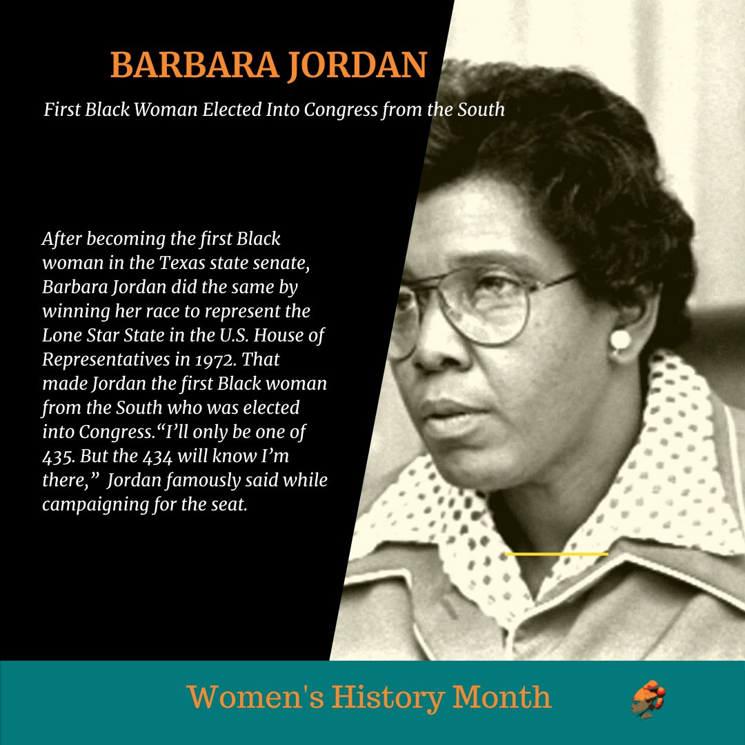 For Women's History Month, HueGirlsz would like to honor Barbara Jordan! The First Black Woman to be elected into congress from THE SOUTH! #WomensHistoryMonth