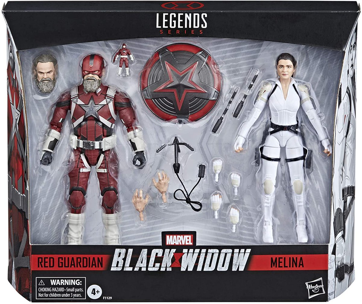 arvel Legends Series 6-inch Scale Red Guardian & Melina Vostkoff 2-Pack will be released on August 1, 2021 on Amazon-  #MarvelLegends #BlackWidow