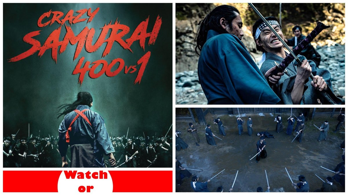 Crazy Samurai 400 vs. 1 is a cinematic spectacle with an insane 77-minute one-take shot and enough sword fighting to please samurai and martial arts fans!    #CrazySamurai #Musashi #Samurai #MartialArts #swordfighting #moviereview #movies #filmtwitter #film