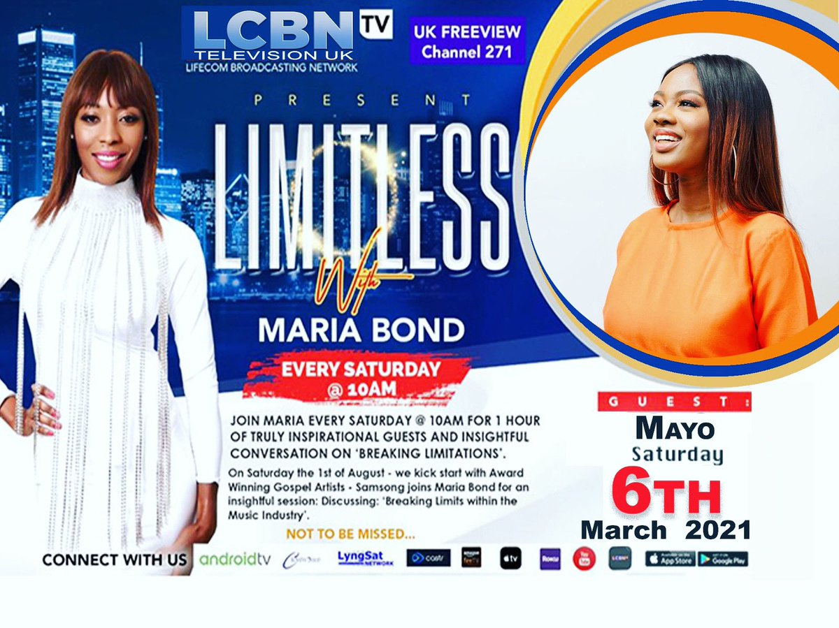 Mayo (Singer song-writer) joins me on Limitless Xtra this Saturday the 6th of March @11.30am on LCBN TV.   #MAYO #lcbntv #gospelmusic #club #scripture #knowledge #power #blessed #soul #talkshow #saturday #saturdayvibes #christian #christ #jesus #joy #jesuslovesyou #holyspirit