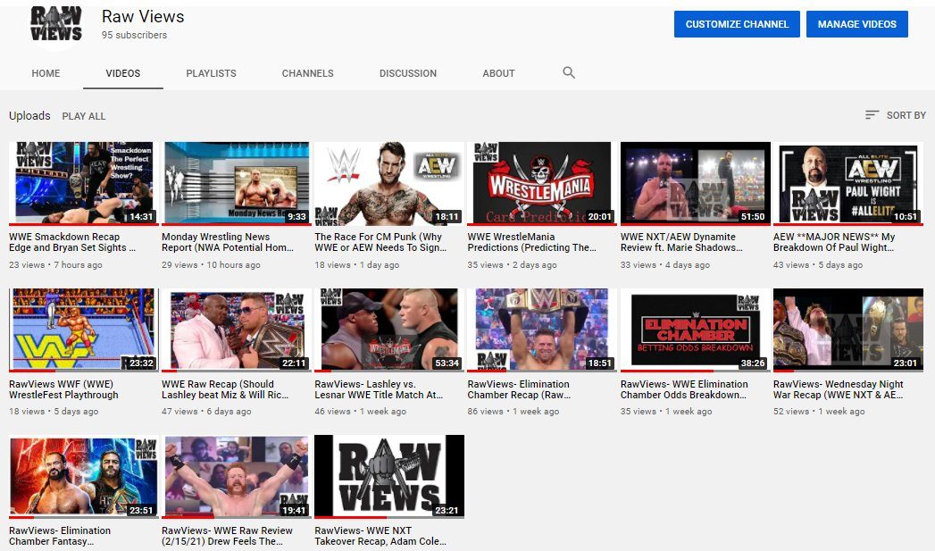 What has been your favorite episode of my new YouTube show yet?  #WWERaw