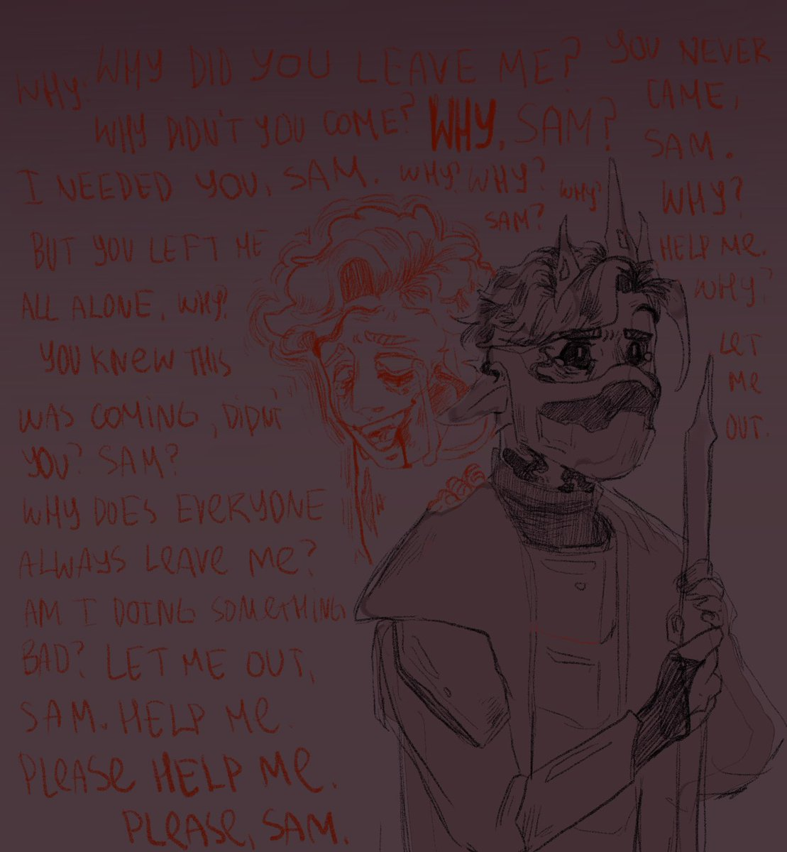 damn the way Sam sounded? it just BROKE me. Tbh i don't think Tommy will last dead for long but guess who will experience the ✨trauma✨ as well? yuh.  #TOMMYLORE #TOMMYINNIT #dreamsmpfanart #awesamdude #HESDEAD