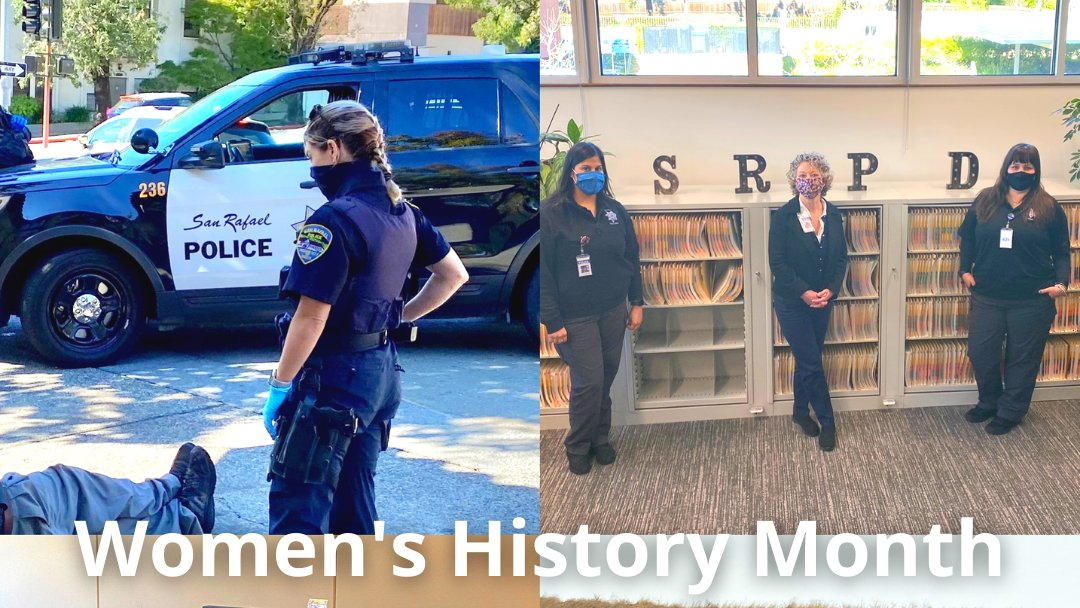The San Rafael Police Department celebrates Women's History Month, honoring the brave women -both past and present- who worked tirelessly to make the world a better place! #SanRafael #SanRafaelPolice #MarinCounty #WomensHistoryMonth #PublicSafety #WomenInLawEnforcement #Monday