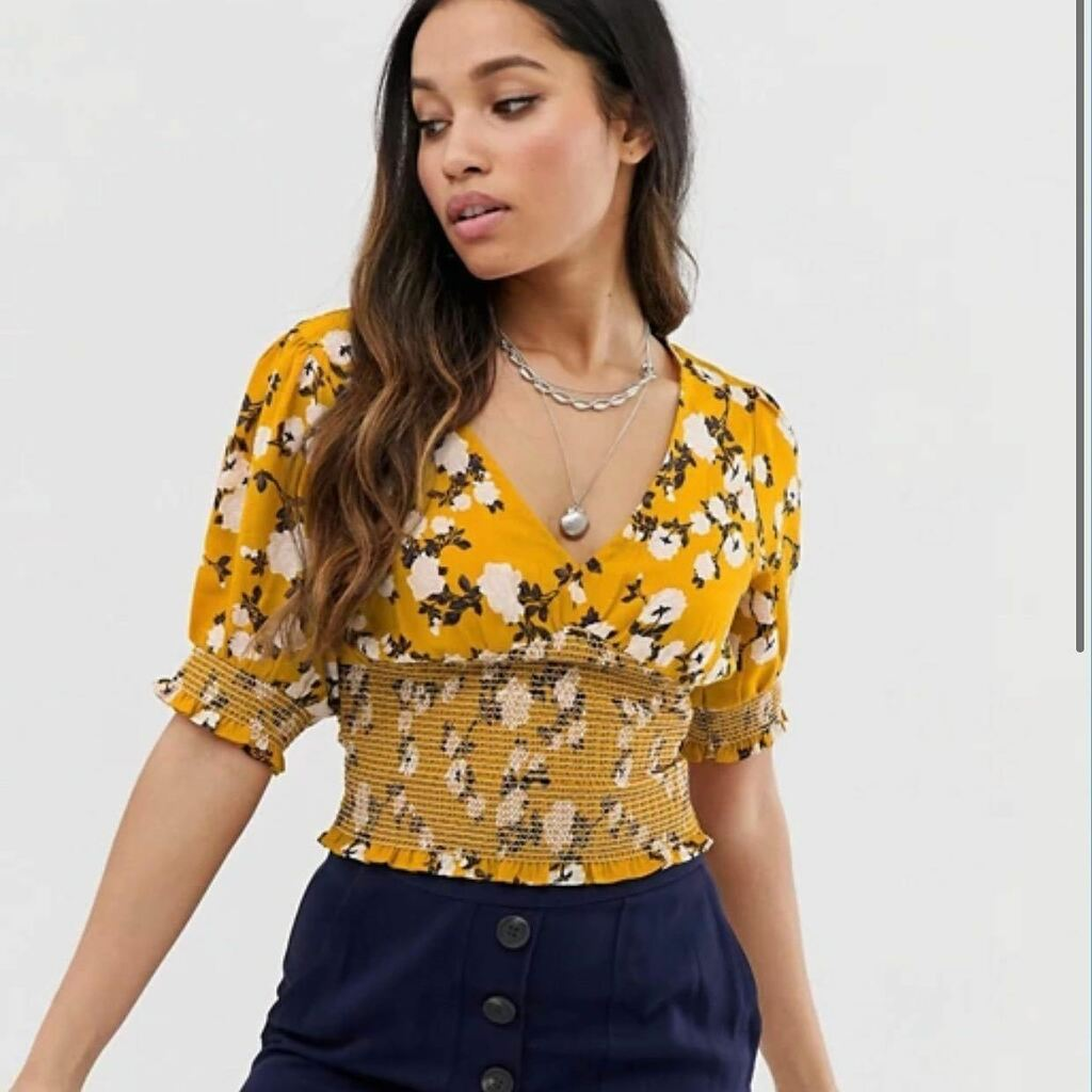 Brave Soul Petite shirred detail top in Floral Print  #tagstagram #amazing #follow4follow #bestoftheday #likeforlike #instamood #style #nofilter #life #pretty #webstagram #iphoneonly #cool #followback #instafollow #instacool #funny #igfotogram #original …
