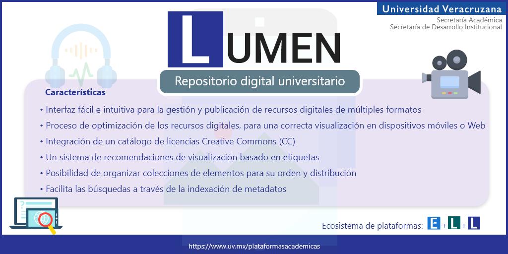#Lumen > recursos digitales > múltiples formatos > proceso de optimización >  licenciamiento CC >. Ingresa al sitio web del Ecosistema E + L + L y conoce a detalle todo lo referente a Lumen: https://t.co/wKd5Z7ttk6   #ELL #CreaComparteColabora https://t.co/C4qKrPTahZ