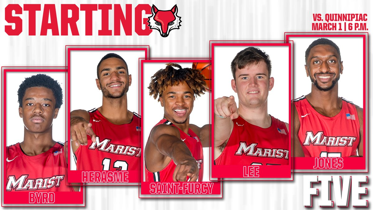 Our #StartingFive for the regular season finale - the first career appearance for Tucker Lee in the opening lineup! #GoRedFoxes #maachoops