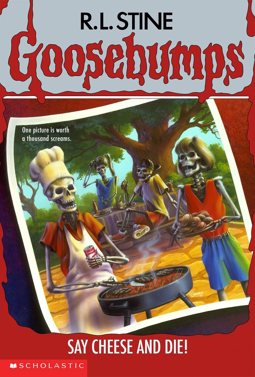 My #FirstNovel was the latest release from this awesome new kids horror series, #Goosebumps .  Say Cheese and Die.