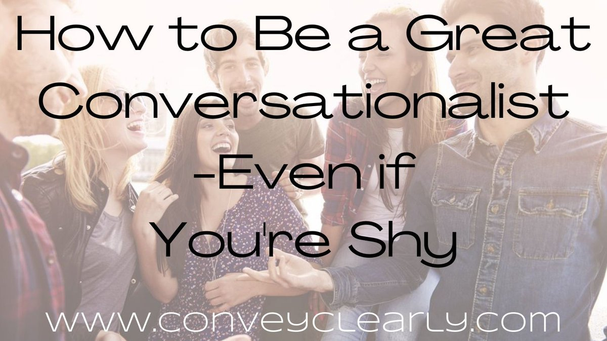 Brand new article!  I'd love to hear what you think!  How to Be a Great Conversationalist-Even if You're Shy      #amwriting #writerslift #conversation #networking #smalltalk #NetworkingTips #SuccessTRAIN
