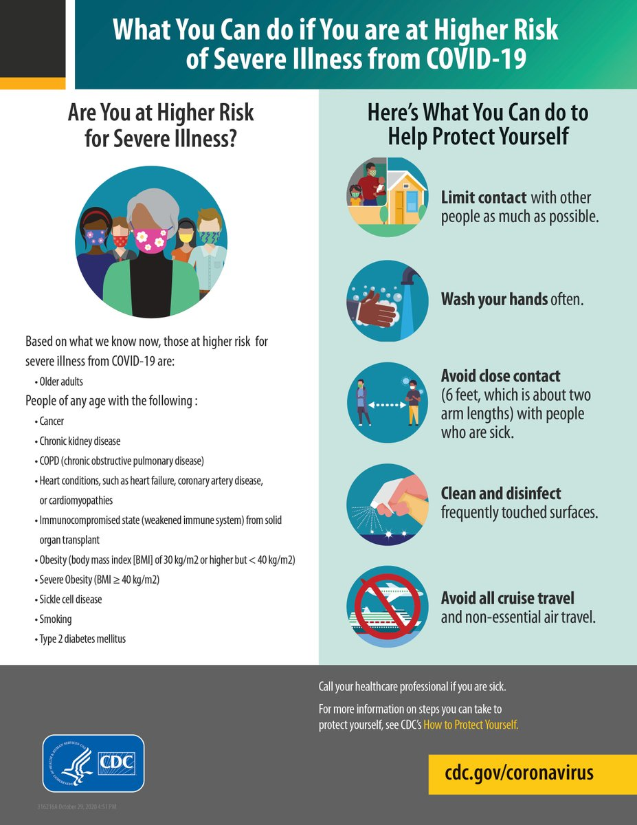 What you can do if you are at higher risk of severe illness from COVID19? #DrTerri #covid #coronavirus #corona #stayhome #staysafe #stayathome #socialdistancing #virus #CovidInPregnancy #CDC #AAP