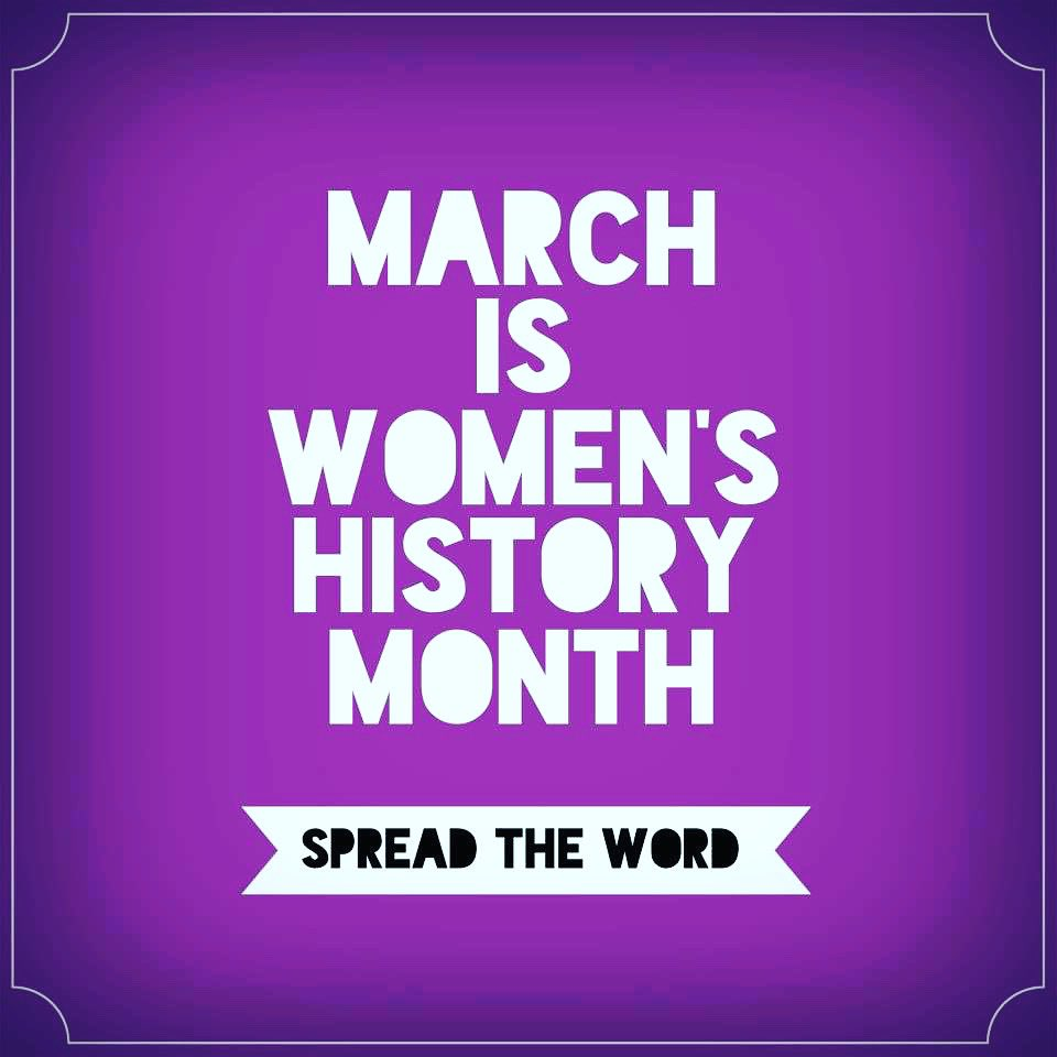 """Let's Welcome March and Women's History Month! 😃 """"Imagine the best version of yourself and show up everyday as HER!"""" 💜 #RemoteLearning💻 #WeAreAllInThisTogether💙 #WomensHistoryMonth"""