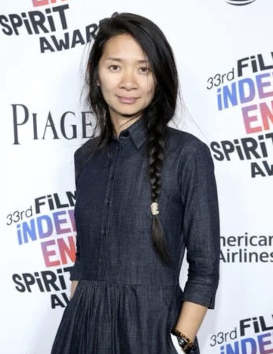 Congratulations to #ChloéZhao - the #firstAsianwoman, and the second woman, to win a #GoldenGlobe for best director 👏🏽 Zhao is a #ChineseAmerican #filmmaker and won the award for her work directing #Nomadland. #WomensHistoryMonth #GoldenGlobes2021