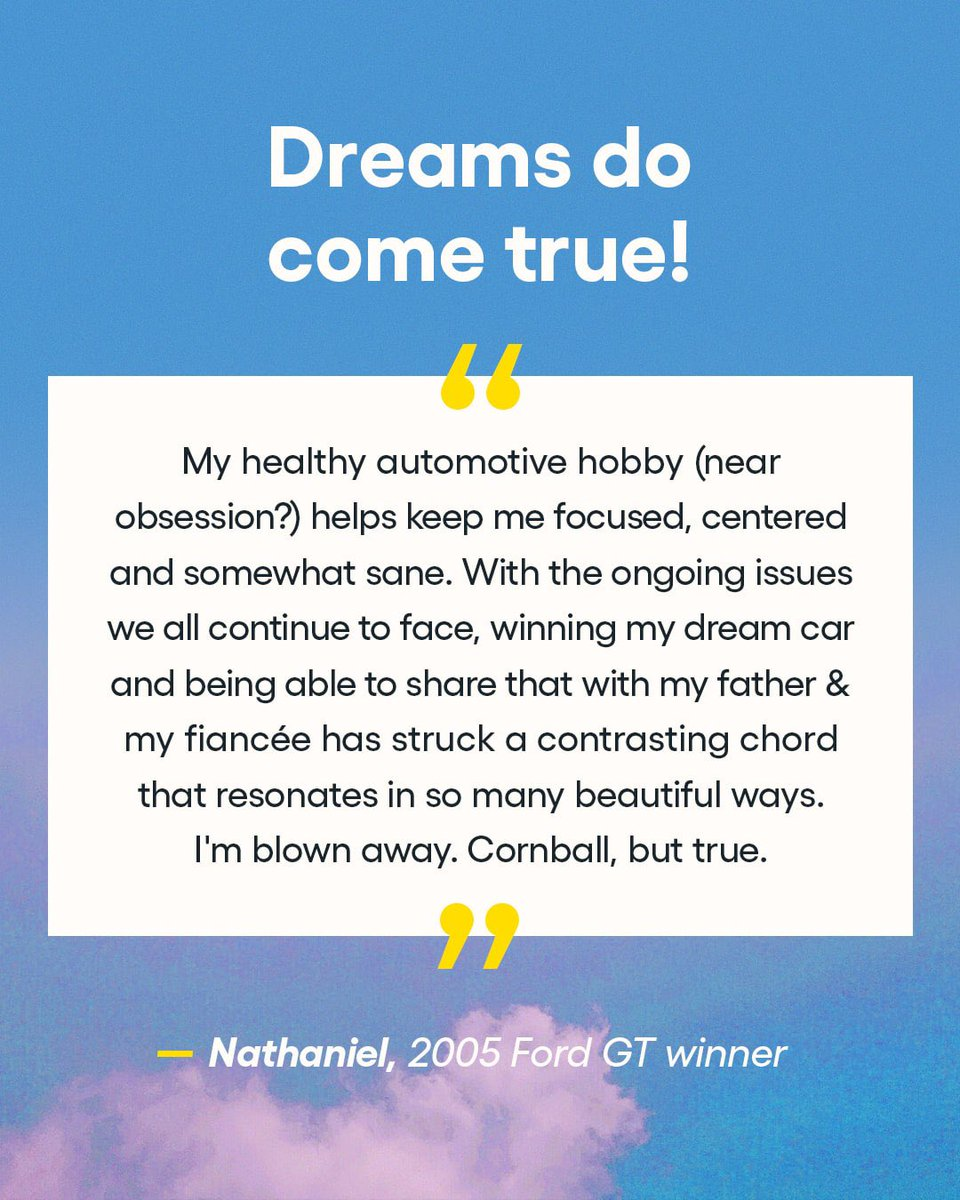 Our winners are corny, stargazing, bucket-list-crushing, surf-loving dreamers! What do you dream about winning?🤞✨  #omaze #omazewinners
