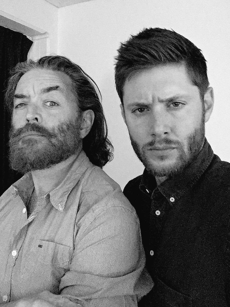 I'm intensely serious about wishing ⁦@JensenAckles⁩  a  most HAPPY BIRTHDAY 🎂 🥃🥃 love you, my friend and look forward to making m mischief with you again very soon