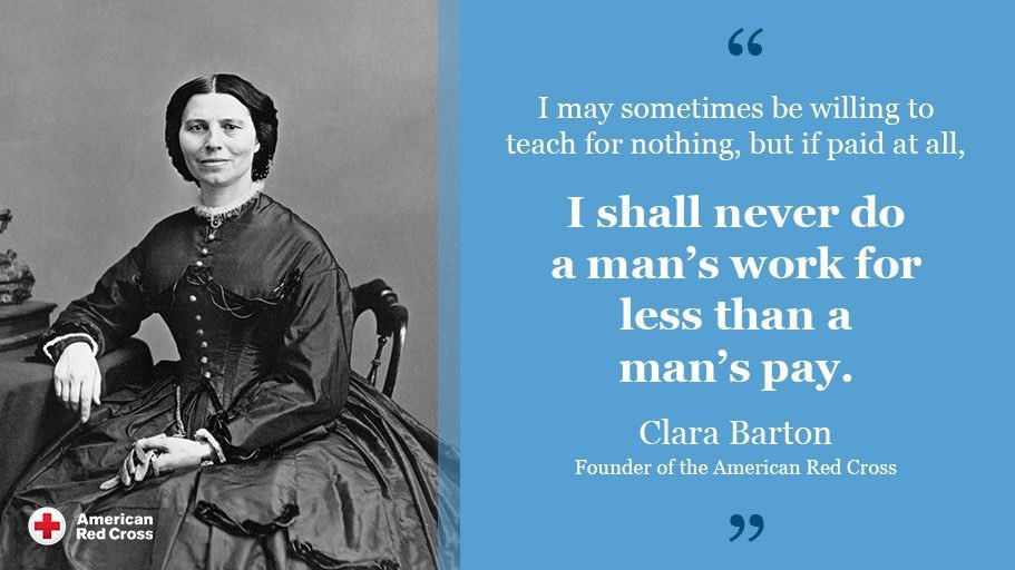 Today we kick off #WomensHistoryMonth and #RedCrossMonth!  We begin with the woman who started it all, Clara Barton.  She founded the #RedCross in 1881.  She served as president of the organization for 23 years.  To learn more about Clara Barton, visit .
