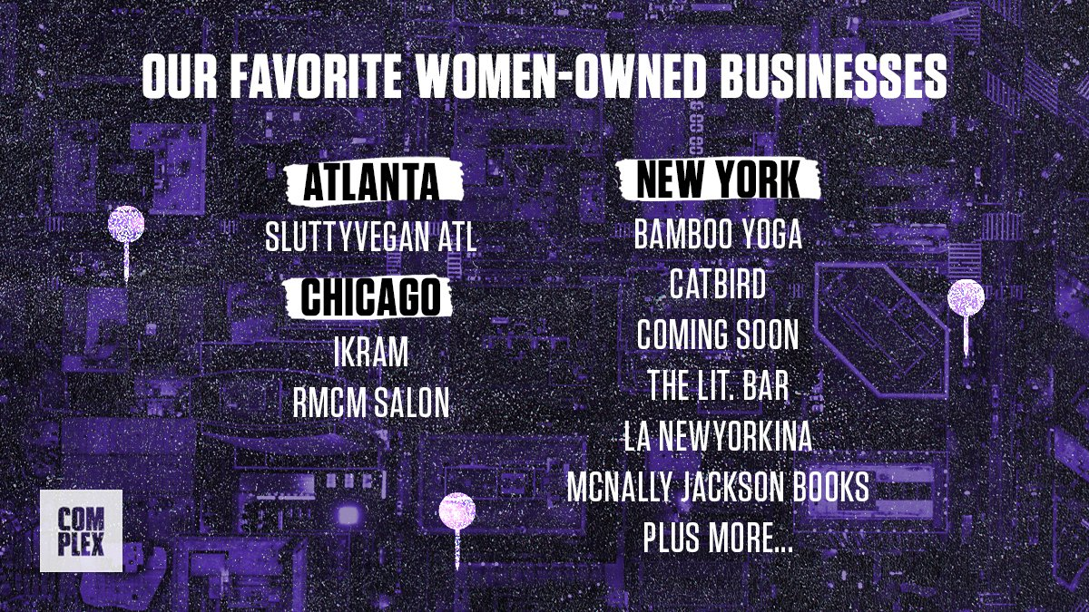 ✨💛 Women of Complex: Our Favorite Women-Owned Businesses. 💛✨  Everything from brick & mortar shops, to new online businesses, and everything in between. #WomensHistoryMonth   FULL LIST: