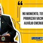Image for the Tweet beginning: #VacinaParaTodos  #AuxílioEmergencial  #FlavioArns #Senador #NossoMandato