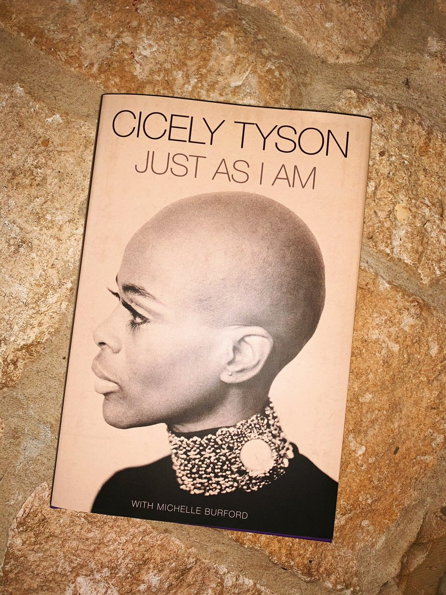What a way to start Women's History Month🙌🏽Taking a moment to actually read for leisure ♥️📚 I've missed these moments 🌺   #CicelyTyson #justasiam