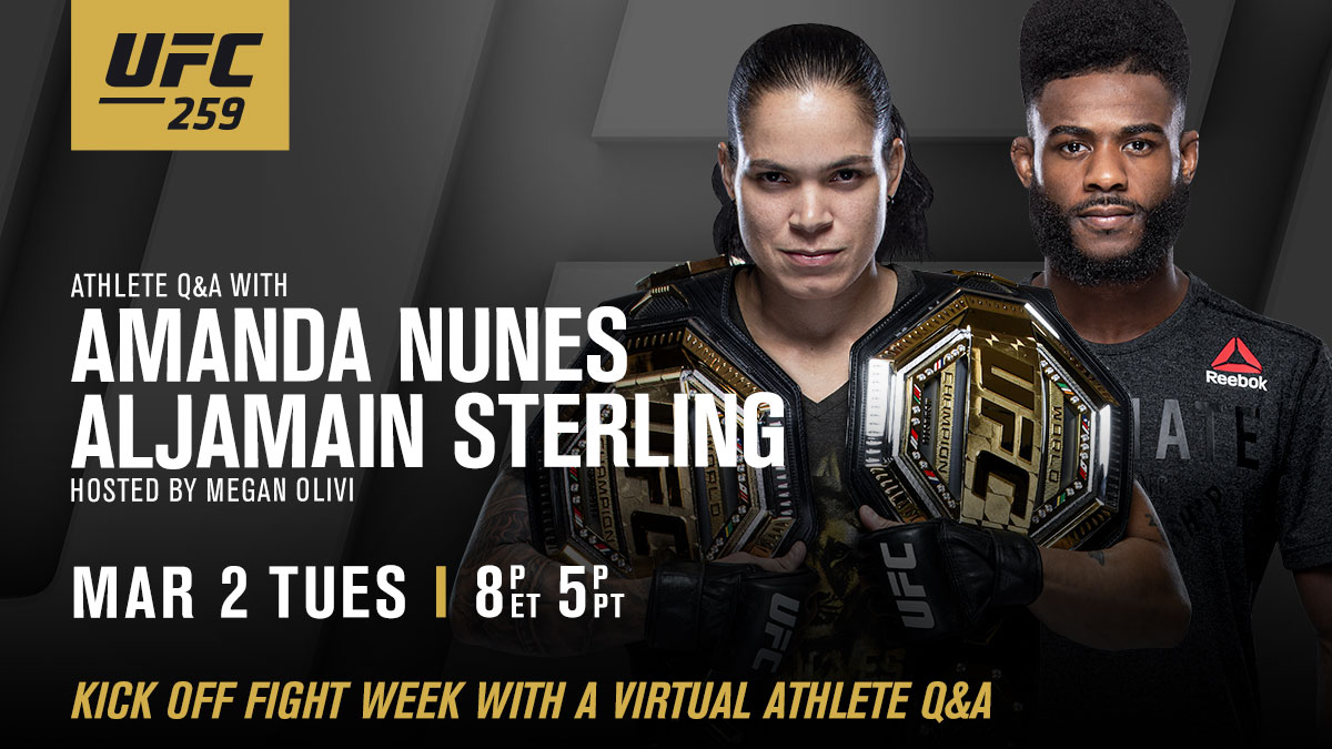 Join the Q&A! We're about to begin 💻  🎙 @Amanda_Leoa | @FunkmasterMMA | @MeganOlivi  [ LINK:  ]