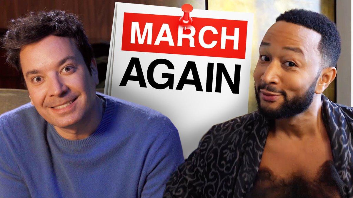 It's March Again?!?! Ode to a full year spent in quarantine 🏡 @johnlegend @FallonTonight