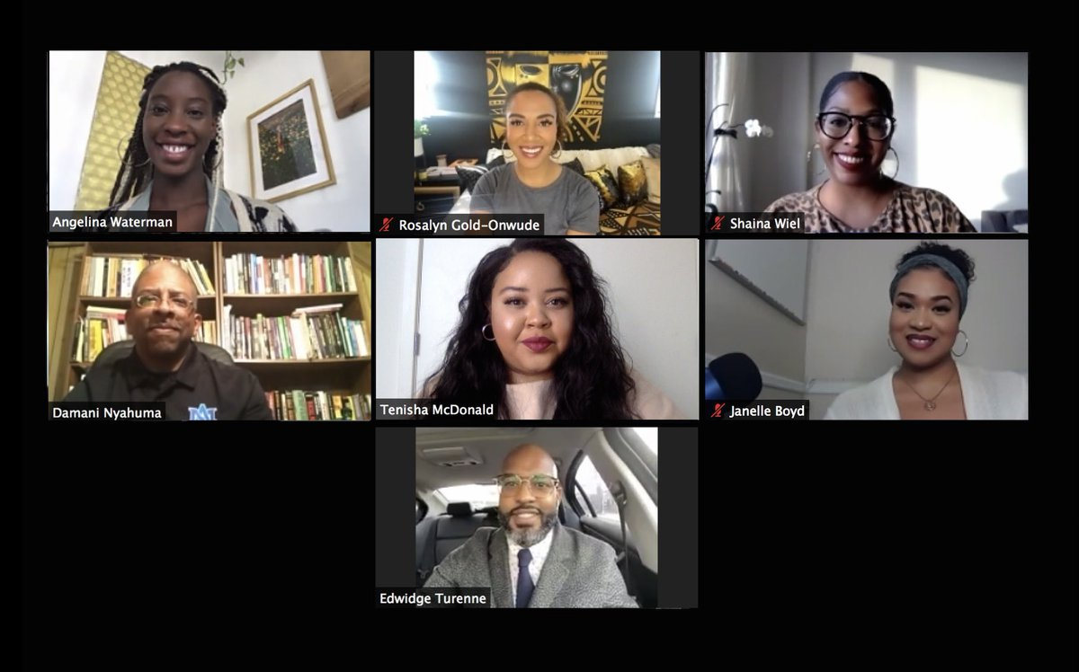 I had the honor of closing out #BlackHistoryMonth moderating a Black Excellence Town Hall with some phenomenal panelists  celebrating Black professionals across a diversity of industries. Thanks y'all💕 @ShaiMW @ROSGO21