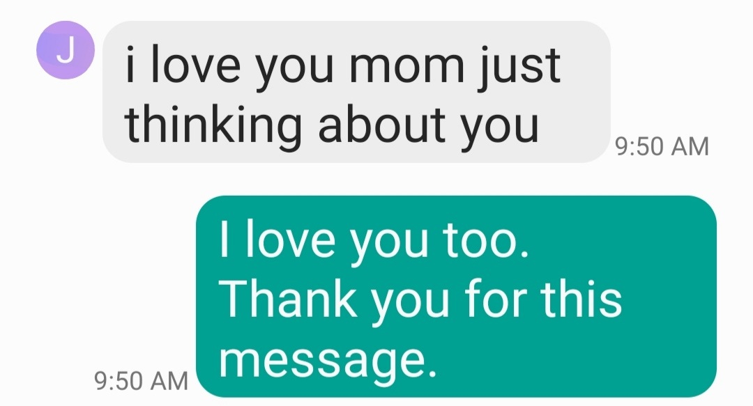 I got tbis text from my 17 year old daughter.  How sweet, right? Then I thought, what did she do now? Then, what does she want now? This girl triggered me! #momlife #momofteenagers