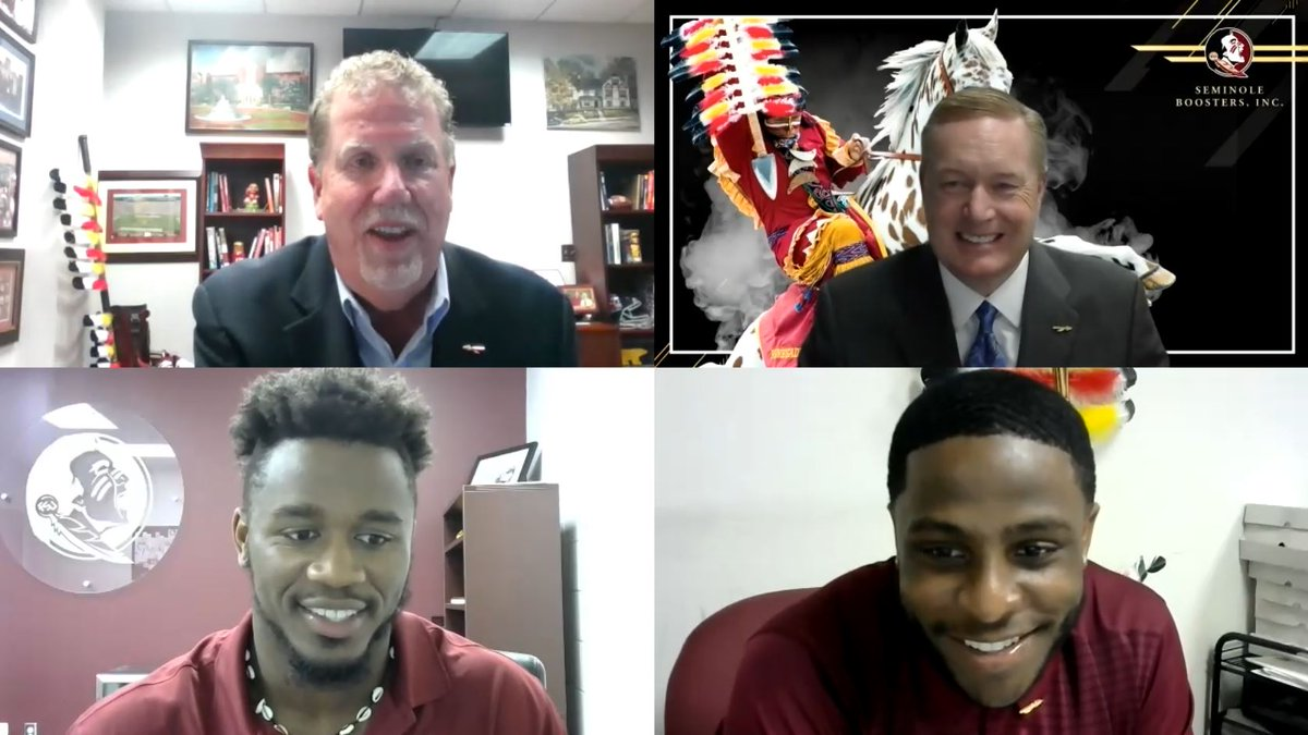Thank you again to Rob Wilson, @SeminoleAlford, @CaamMcd, and @AmariGainer for speaking with our donors this evening! We had fun and look forward to hosting more webinars in the future! #GoNoles #OneTribe https://t.co/k9wCk0zWoe